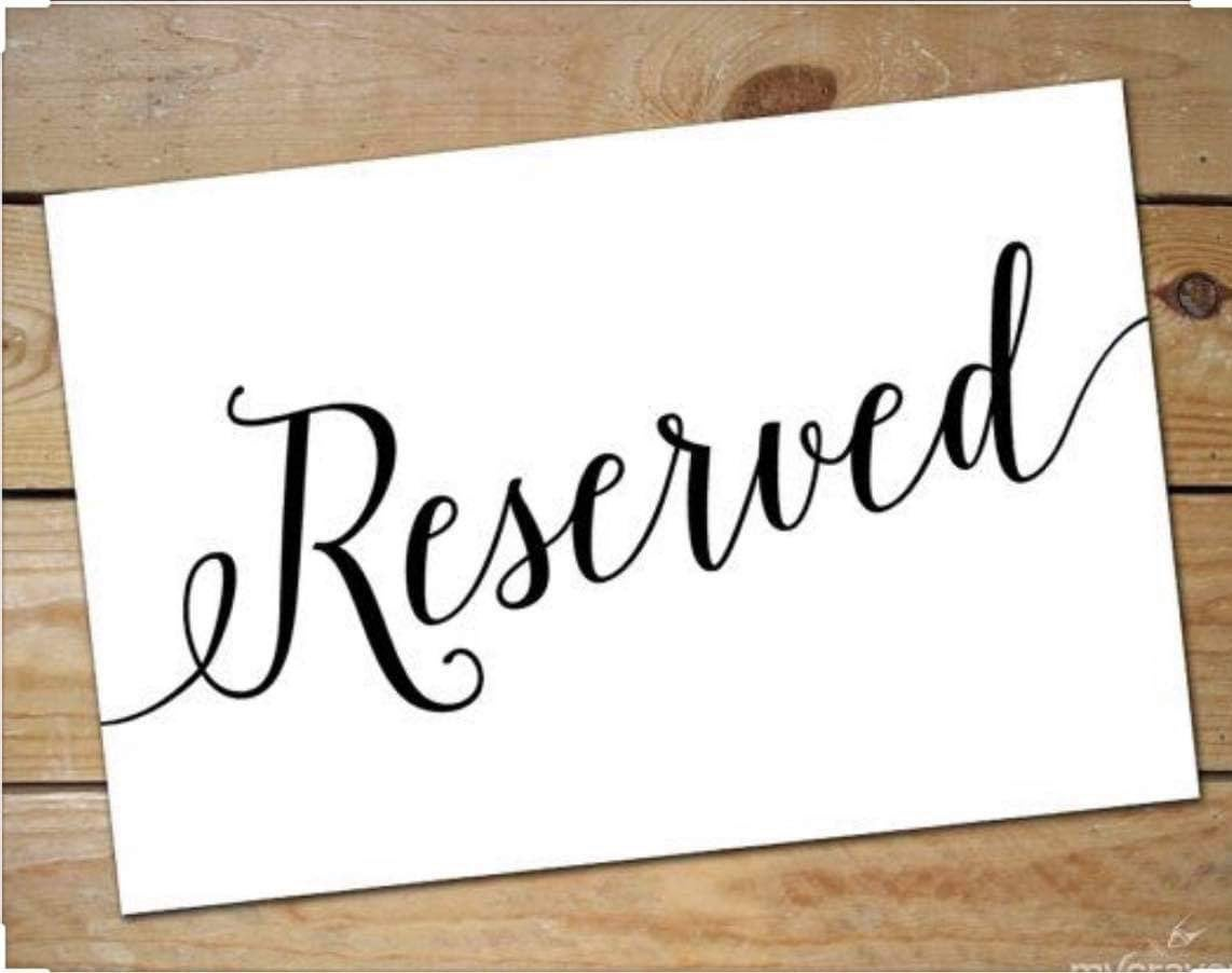Reserved for Karen Pierce