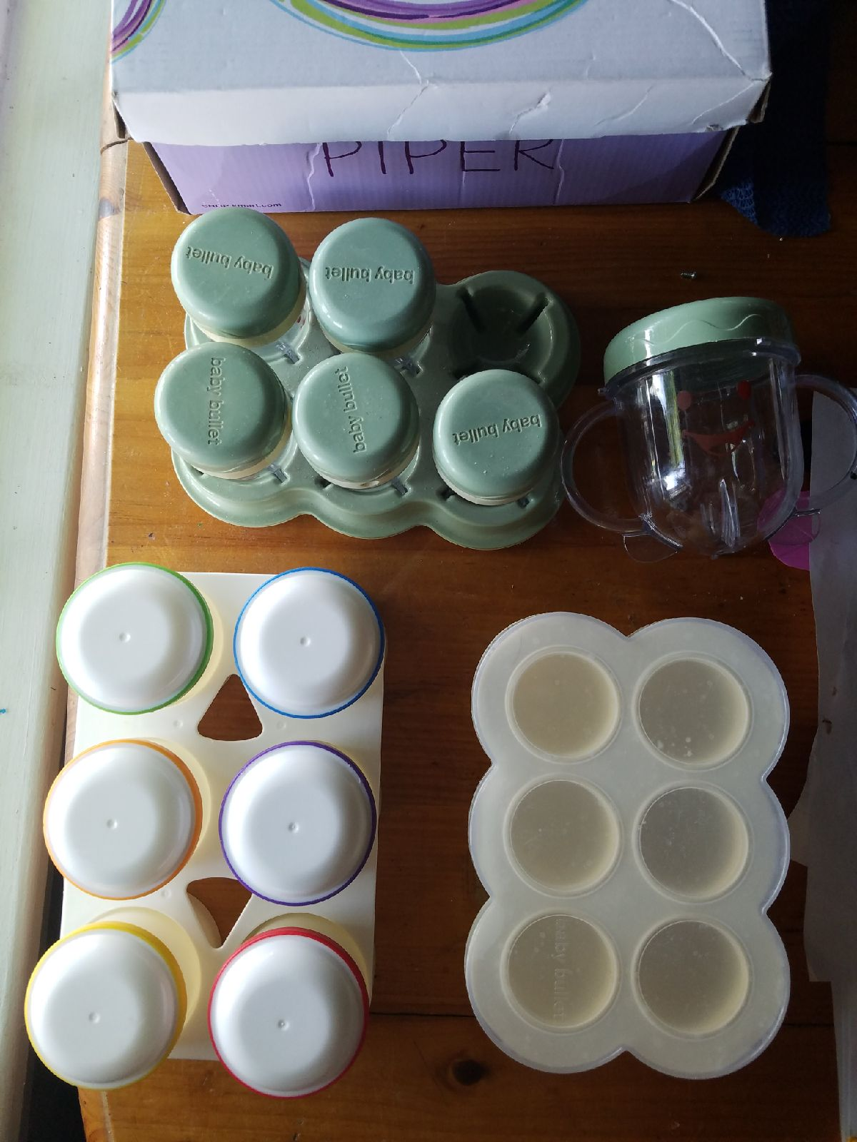Baby food storage and book
