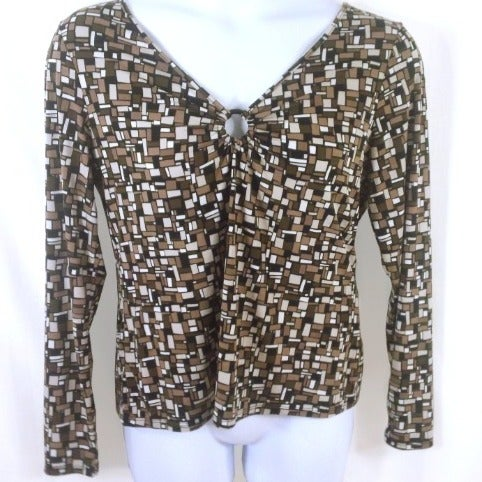 Axcess by Liz Claiborne XL brown blouse