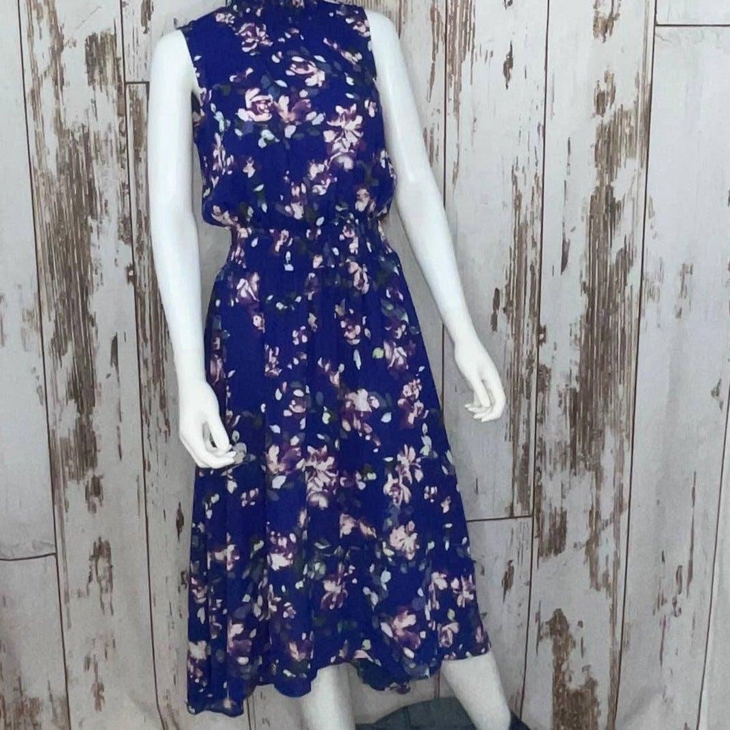 Floral Print Smocked-Waist HiLow Dress 6