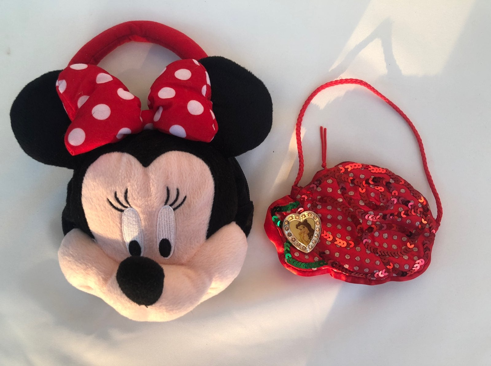 Disney Minnie Mouse Girl's Plush Head Ba