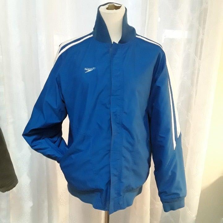 VTG Speedo Jacket Blue XL