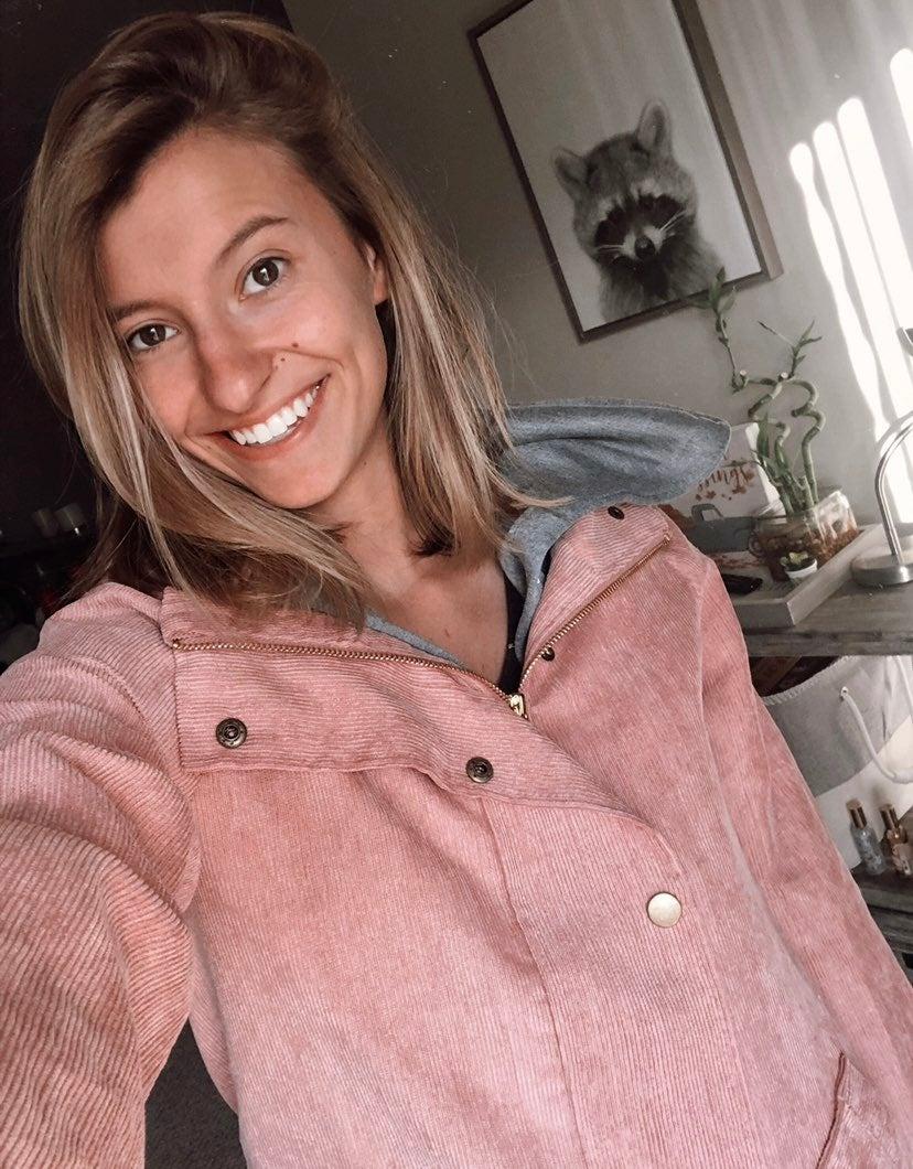 Zaful pink Corduroy jacket