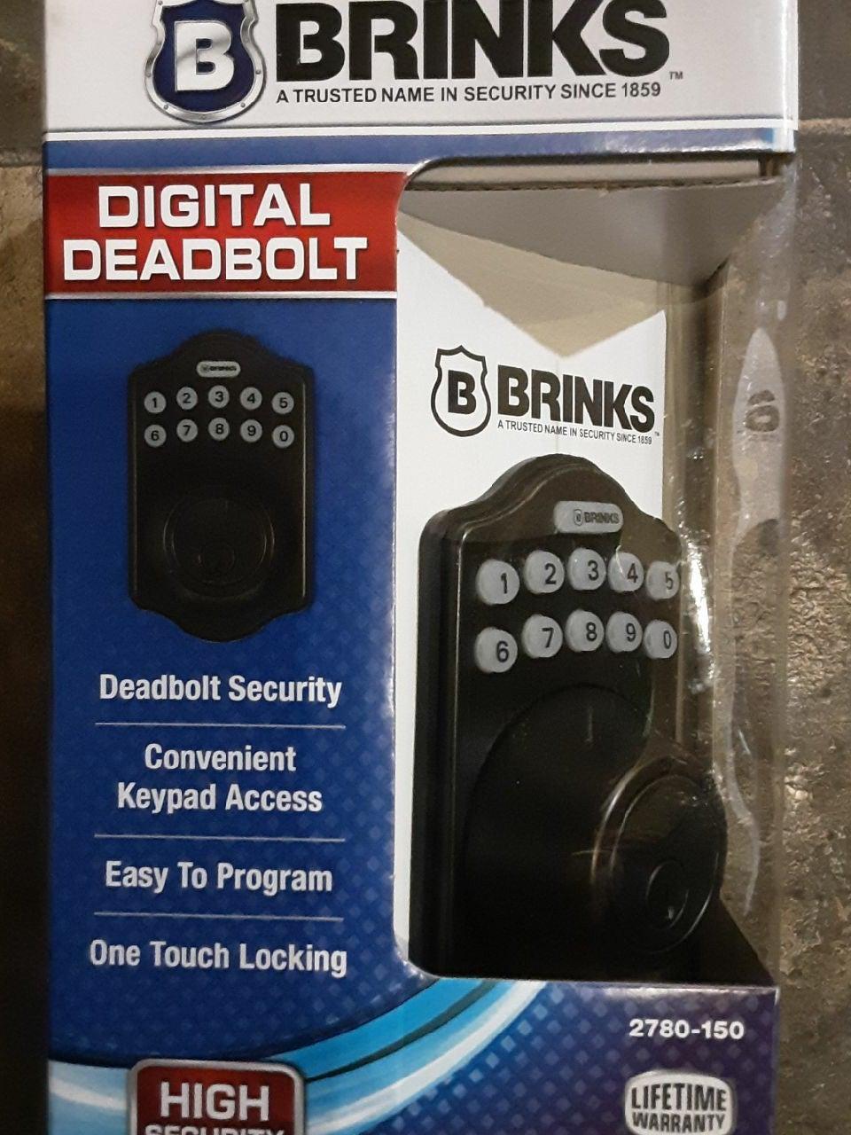 BRINKS HIGH SECURITY DIGITAL DEADBOLT  (