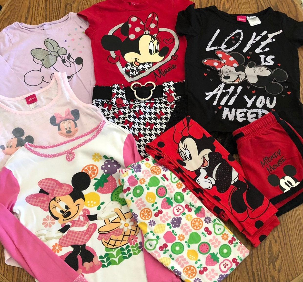 Disney Minnie Mouse Girls 6 7 Shirts Pjs