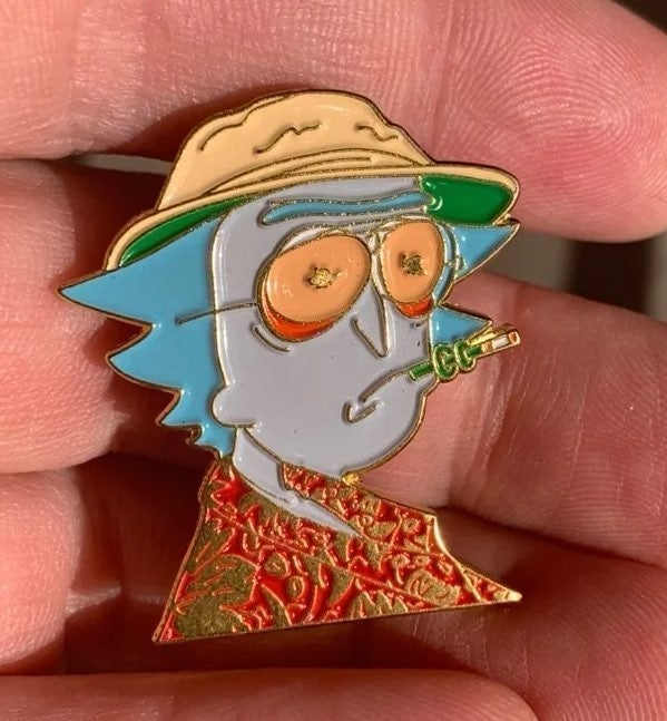 Hunter + Rick & Morty Dab Fear Pin New