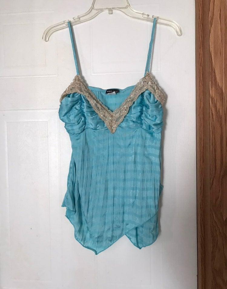 Wet Seal Blue Lace Cami