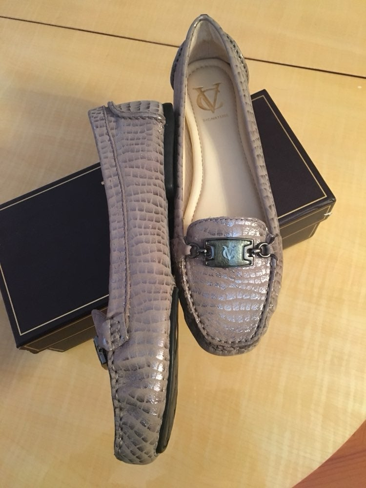 Leather Flats Loafer Mocassins W/Defect