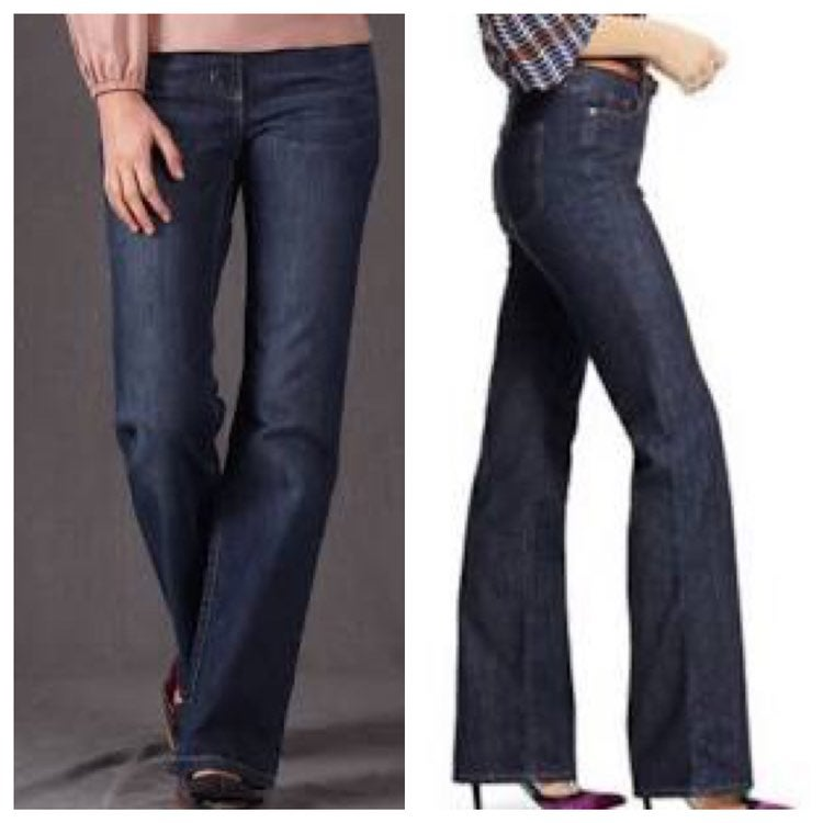 Boden indgo midrise flare jeans