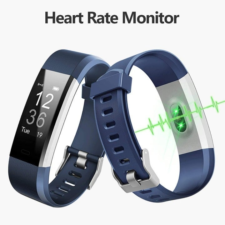 Fitness Tracker, Activity Tracker with Heart Rate Monitor, Smart Fitness Watch