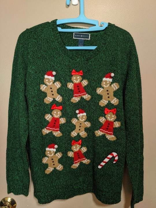Christmas sweater - gingerbread size L