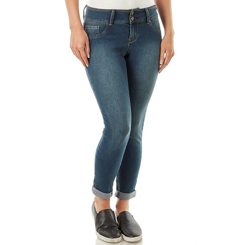 Double Button Roll Cuff Skinny jeans S10