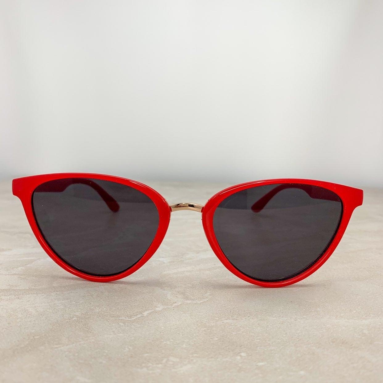 cute red cat eye sunglasses for women