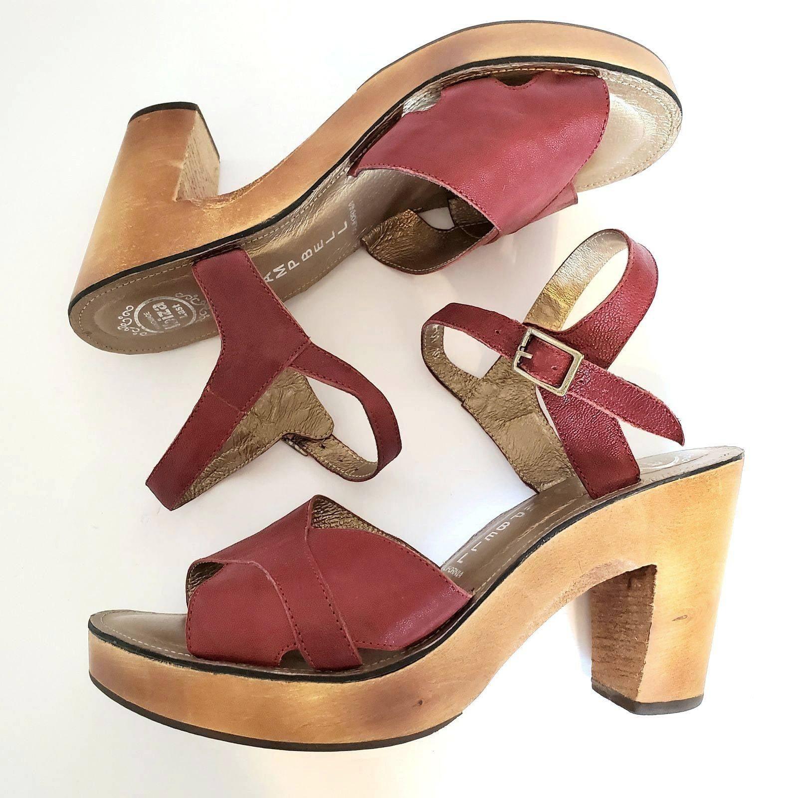 Jeffrey Campbell Ibiza Burgandy Sandals