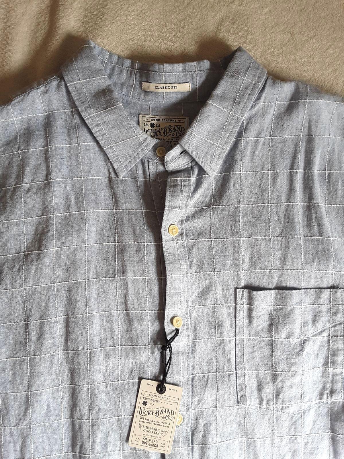Mens Lucky Brand Shirt Blue XL EUC