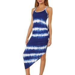 ALMOST FAMOUS Tie Dye Asymmetrical Dress