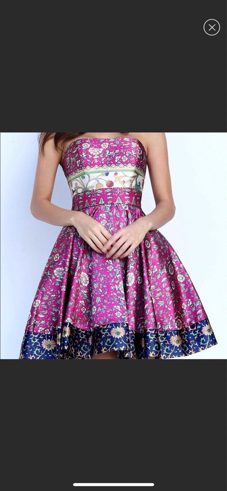 Sherri Hill Short Print Dress 50794