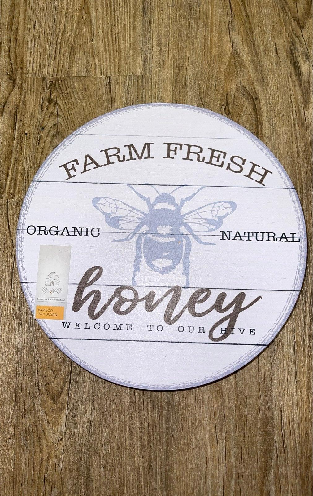 Farm Fresh Honey Bee Lazy Susan