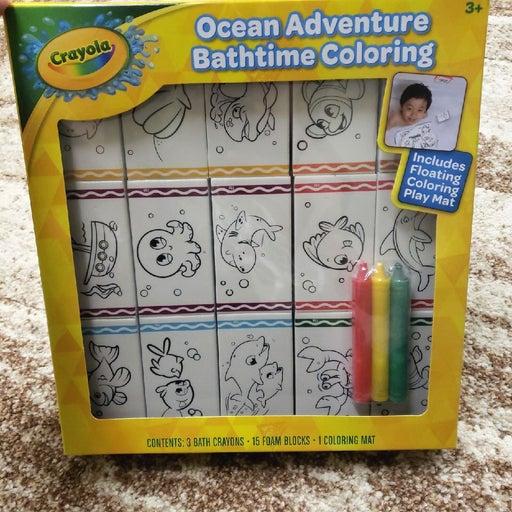 NEW Crayola Ocean Bath Crayon Art