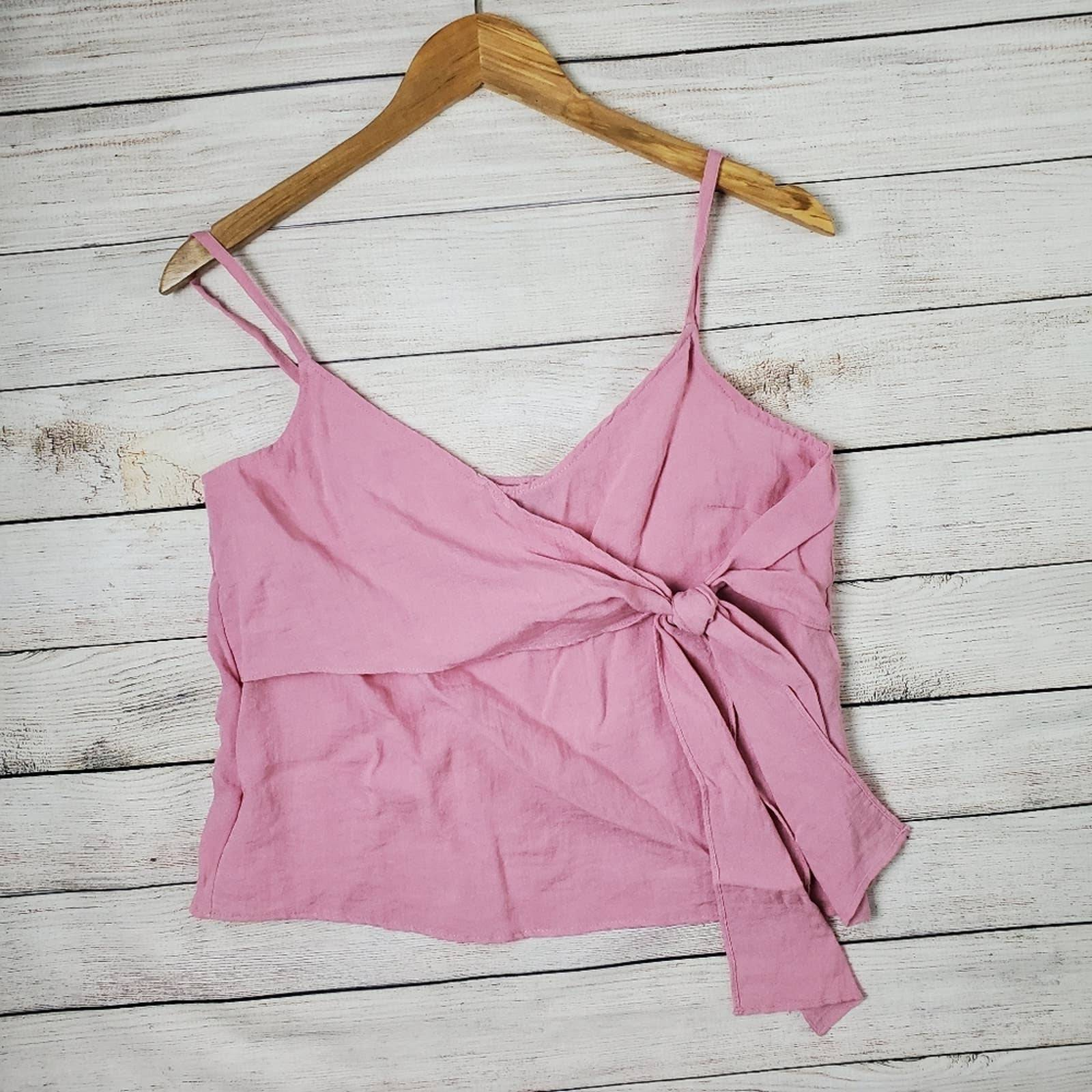 Topshop pink knot / bow tank