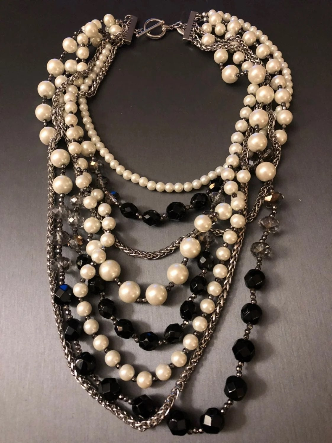 Ann Taylor six layer necklace