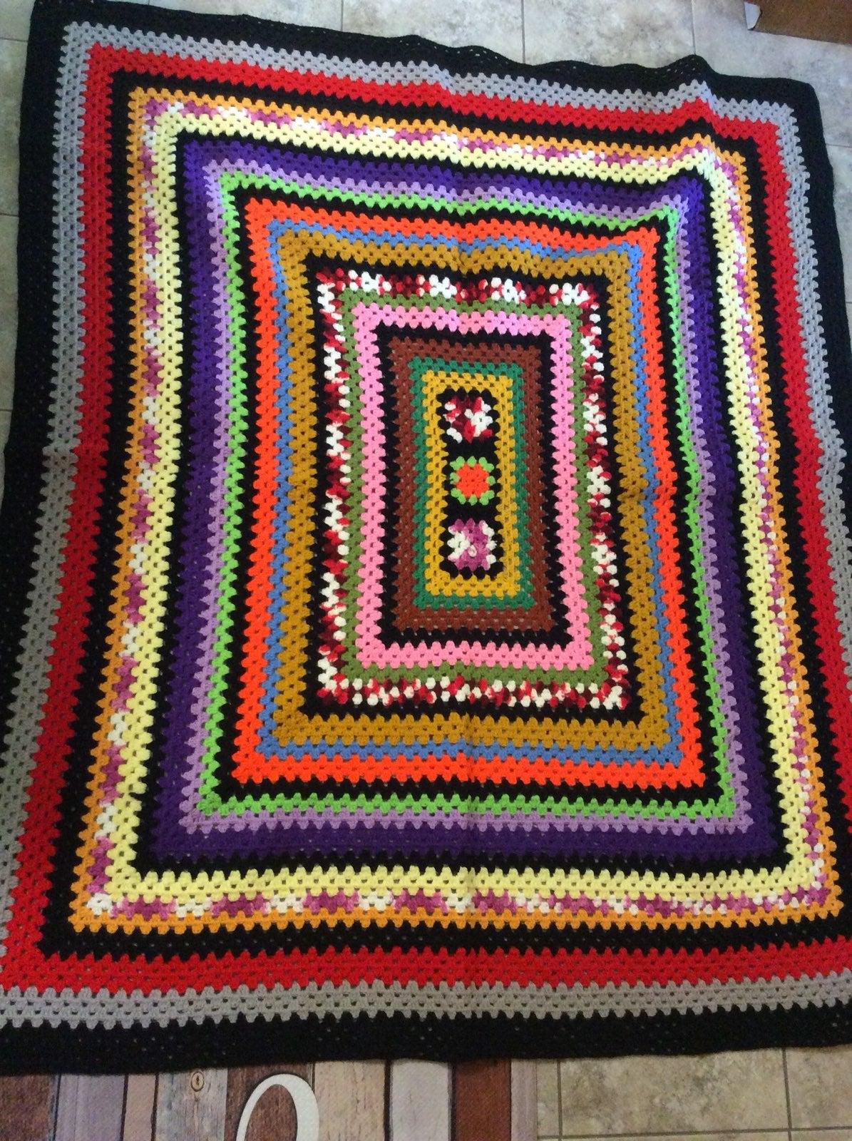Vintage handmade afgan
