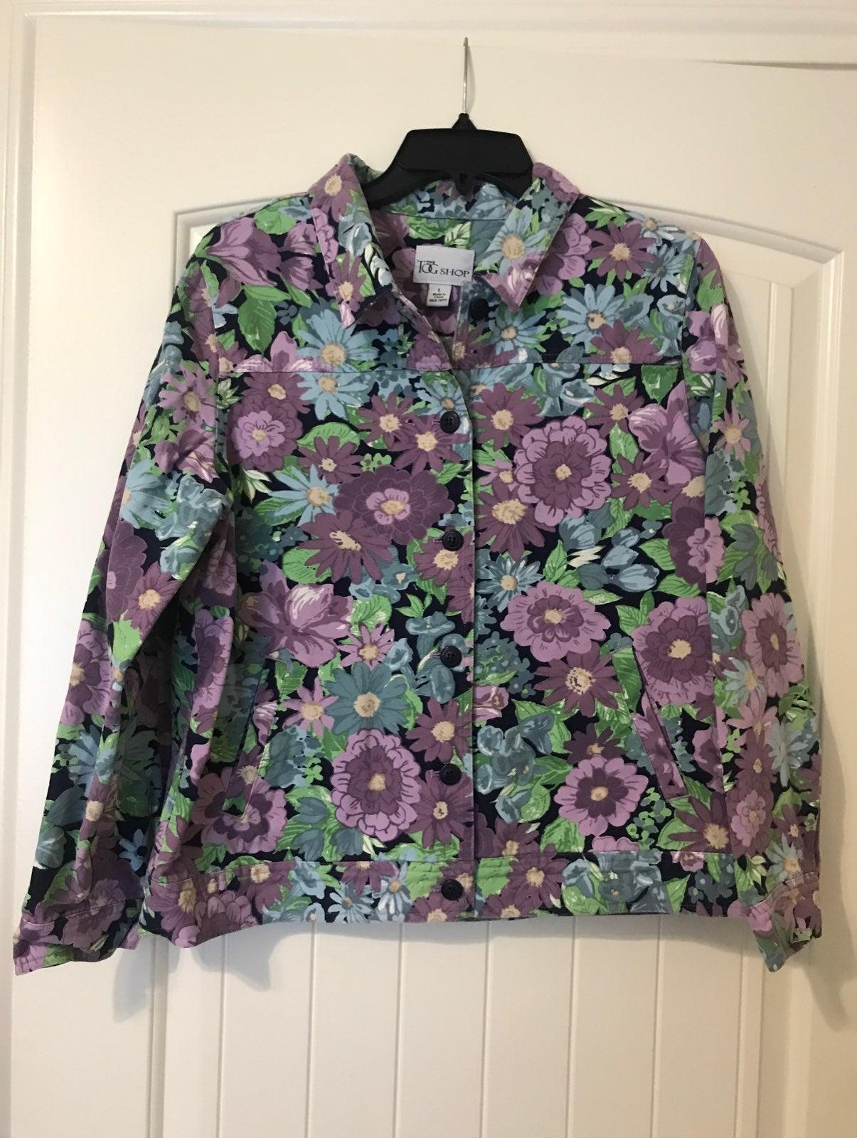 Denim Floral TOG Jacket