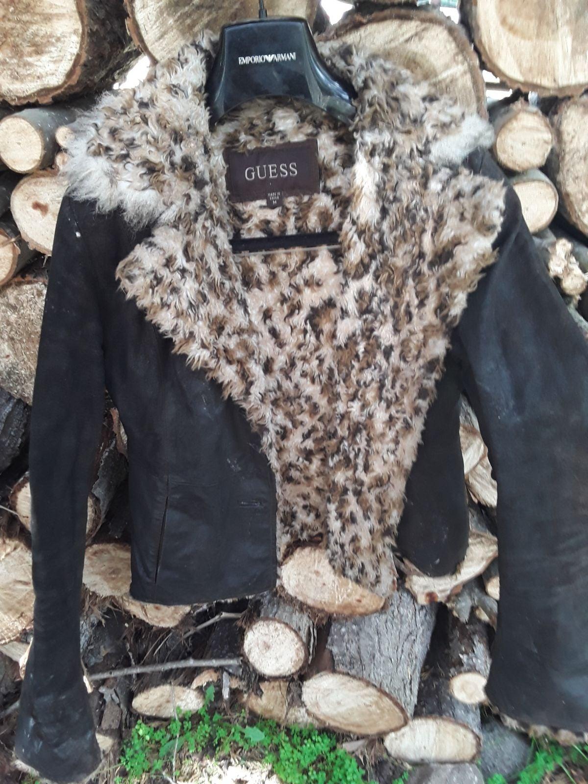 Guess shearling fur coat