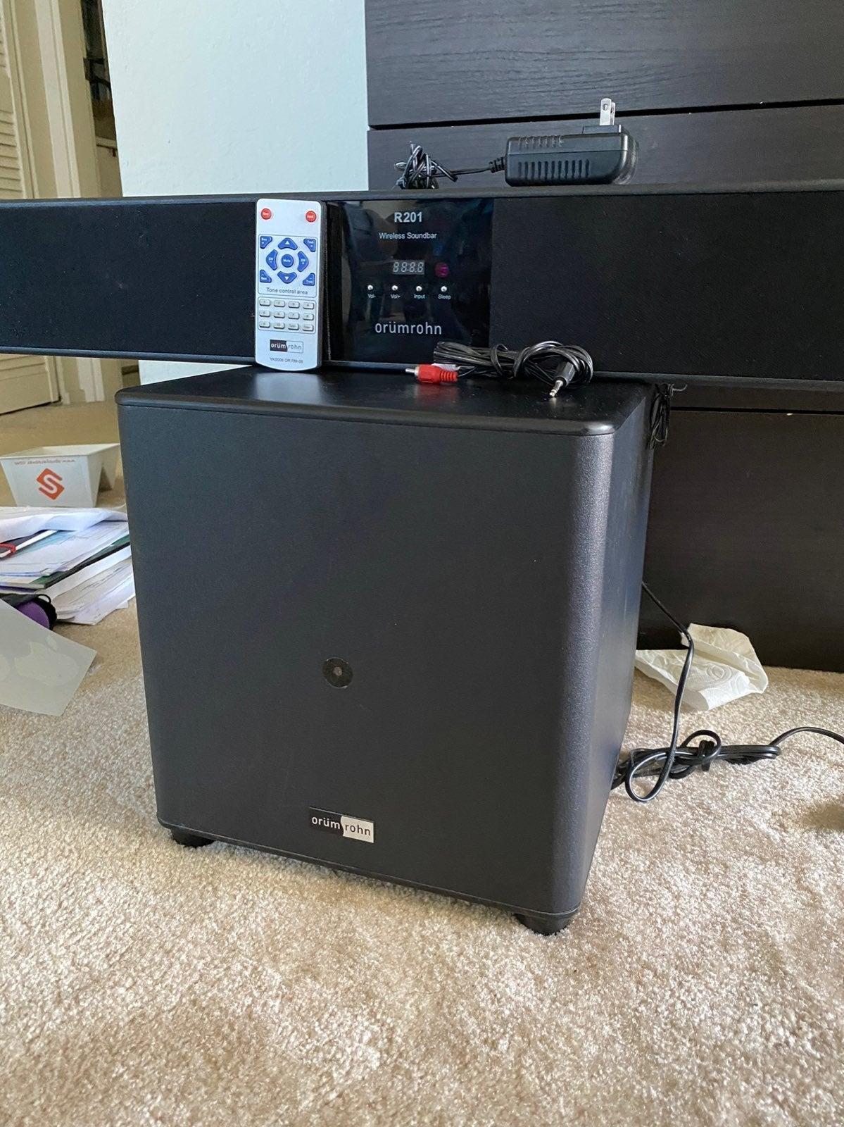 2.1 Channel Sound Bar with Wireless Subw
