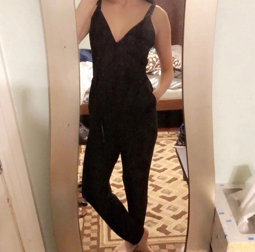 Express black jumpsuit xs soft