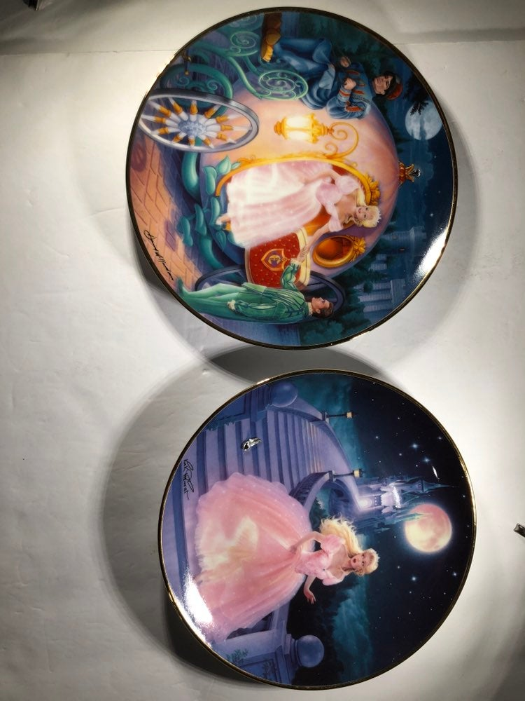 Franklin Mint 2 Plate Set Cinderella lim