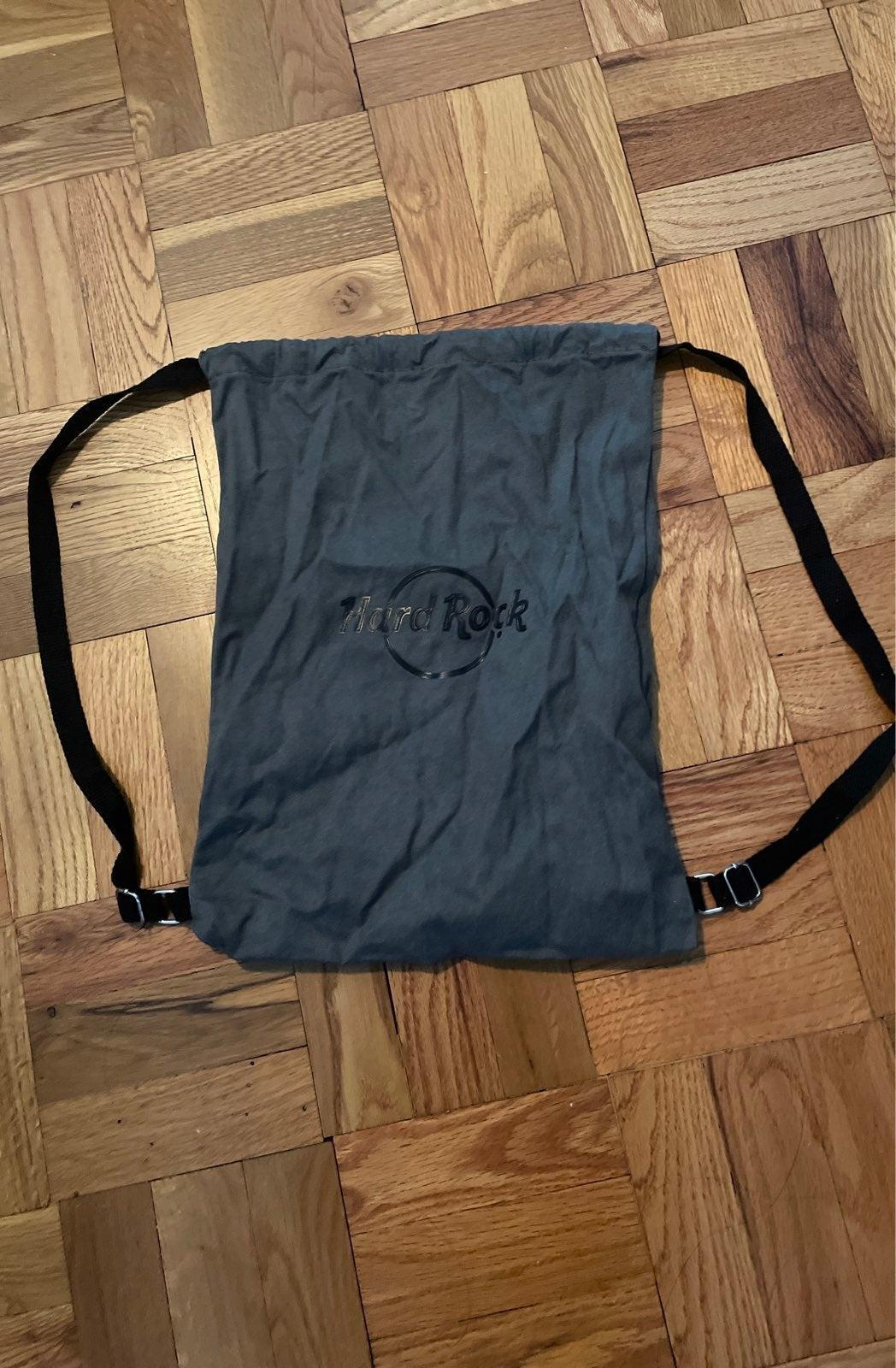 Hard rock drawstring bag