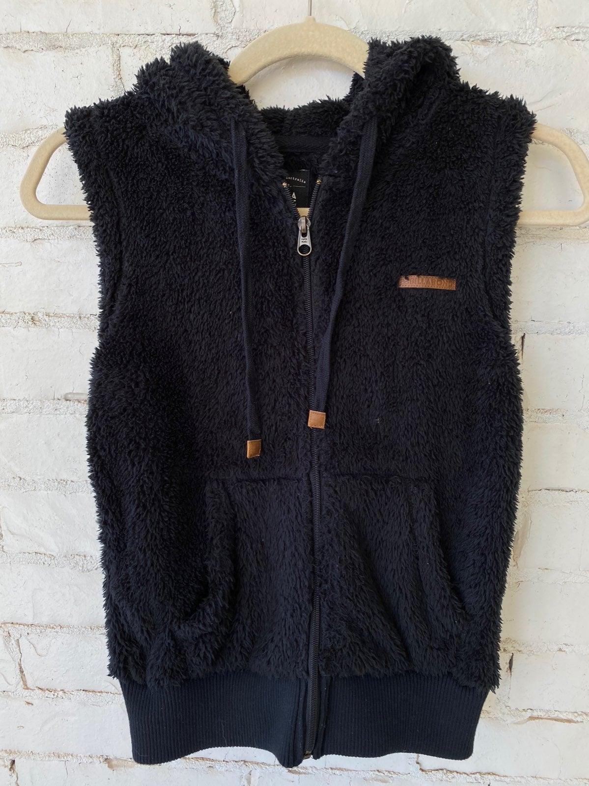 Billabong Fuzzy Vest, sz xsmall