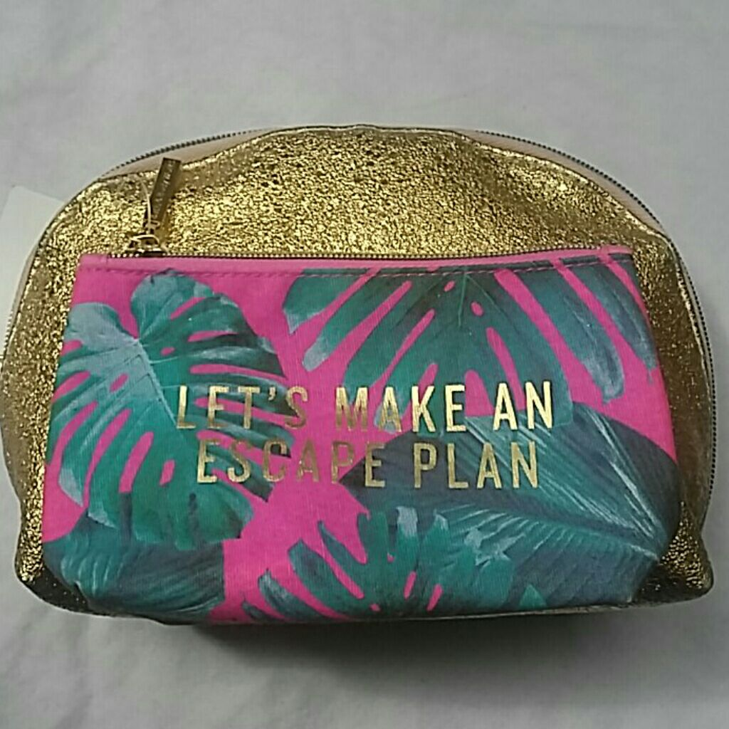 Tropical Gold Cosmetic Bags Bath & Body+