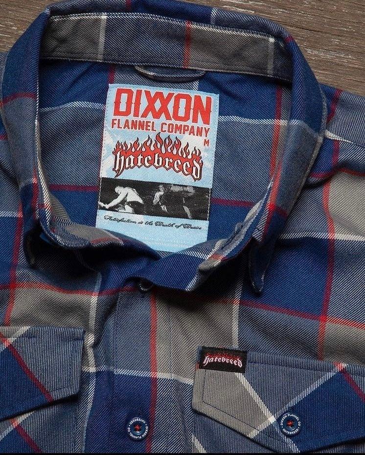 """DIXXON Men's XL """"Hatebreed"""" Flannel"""
