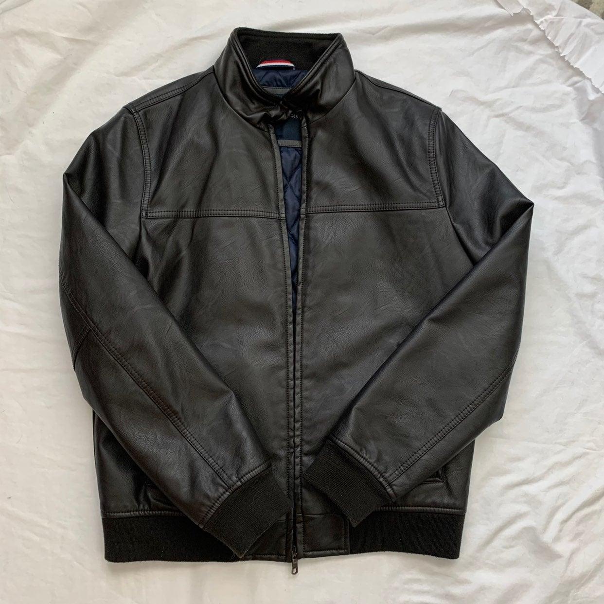 NWOT Tommy Hilfiger leather jacket
