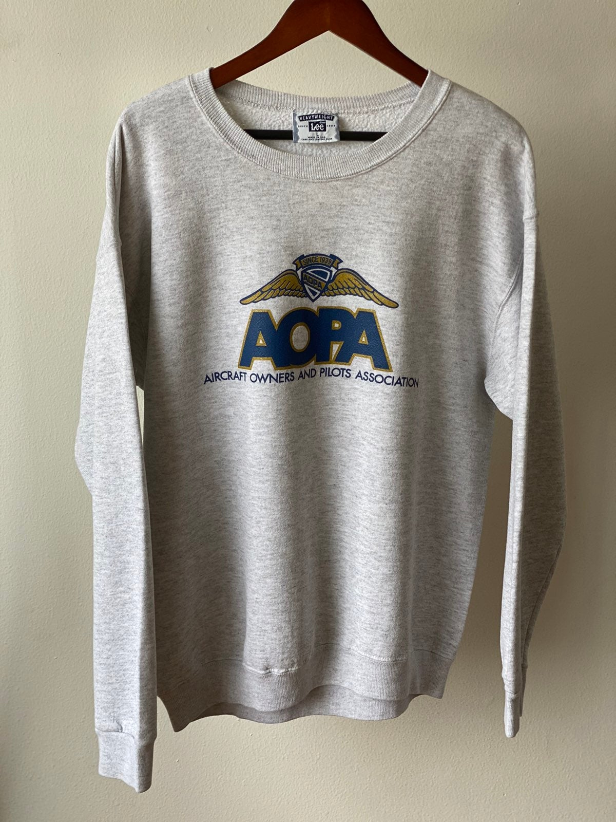 Vintage Lee AOPA Sweatshirt Sz L