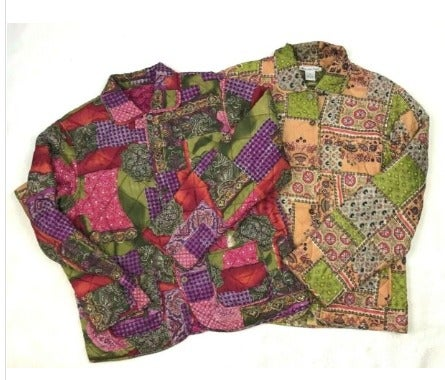 Womens 100% Silk Jacket Multicolor Lot 2