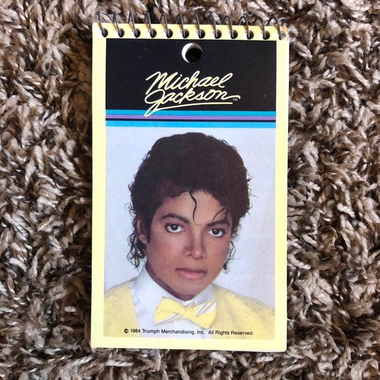 Vintage 1984 Michael Jackson Memo Pad