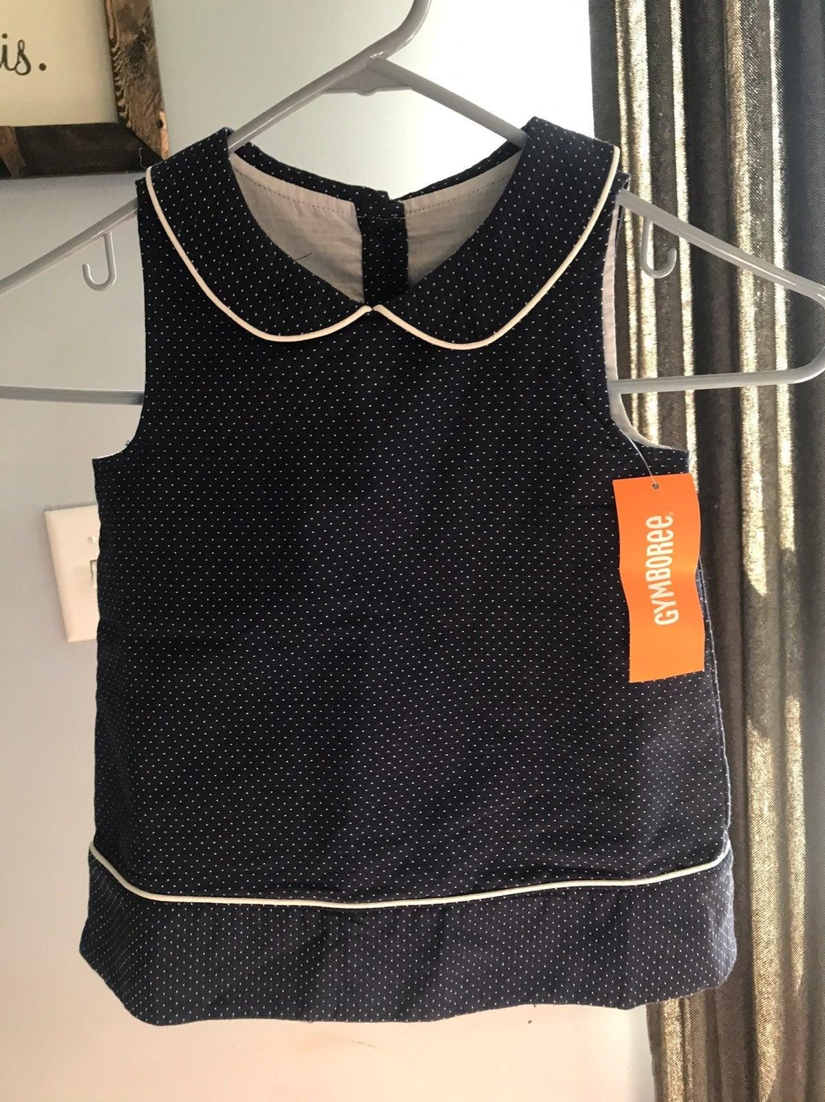 NWT Gymboree Jumper Dress Navy Polka Dot