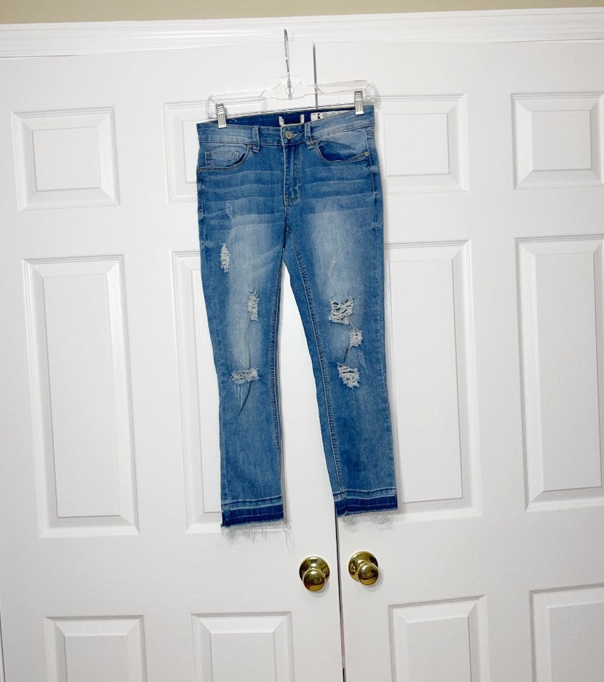 Indigo rein women's ripped jeans