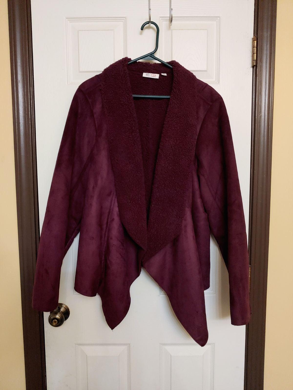 Denim & Co. faux suede fleece jacket
