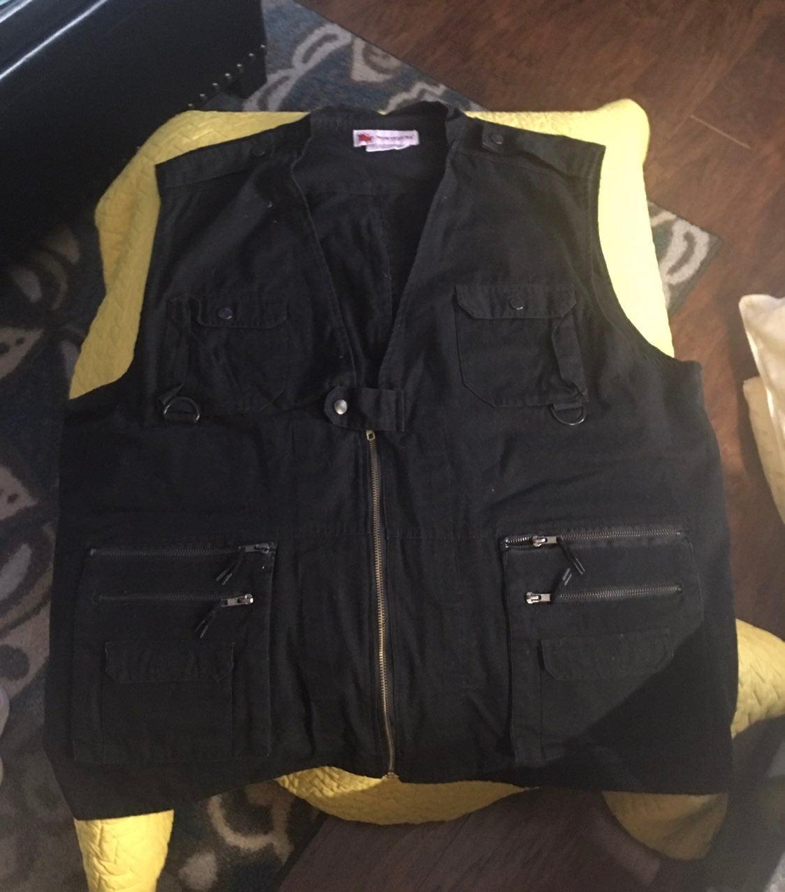 DOUBLE BRESTED Vest Black L