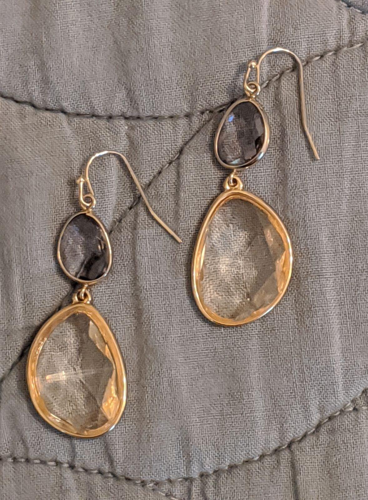 Loft Clear Drop Earrings