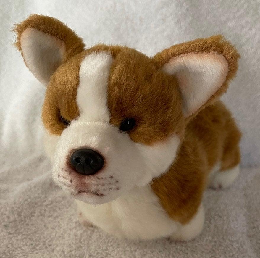 "Plush CORGI Puppy Dog 9"" Demdaco 2011"
