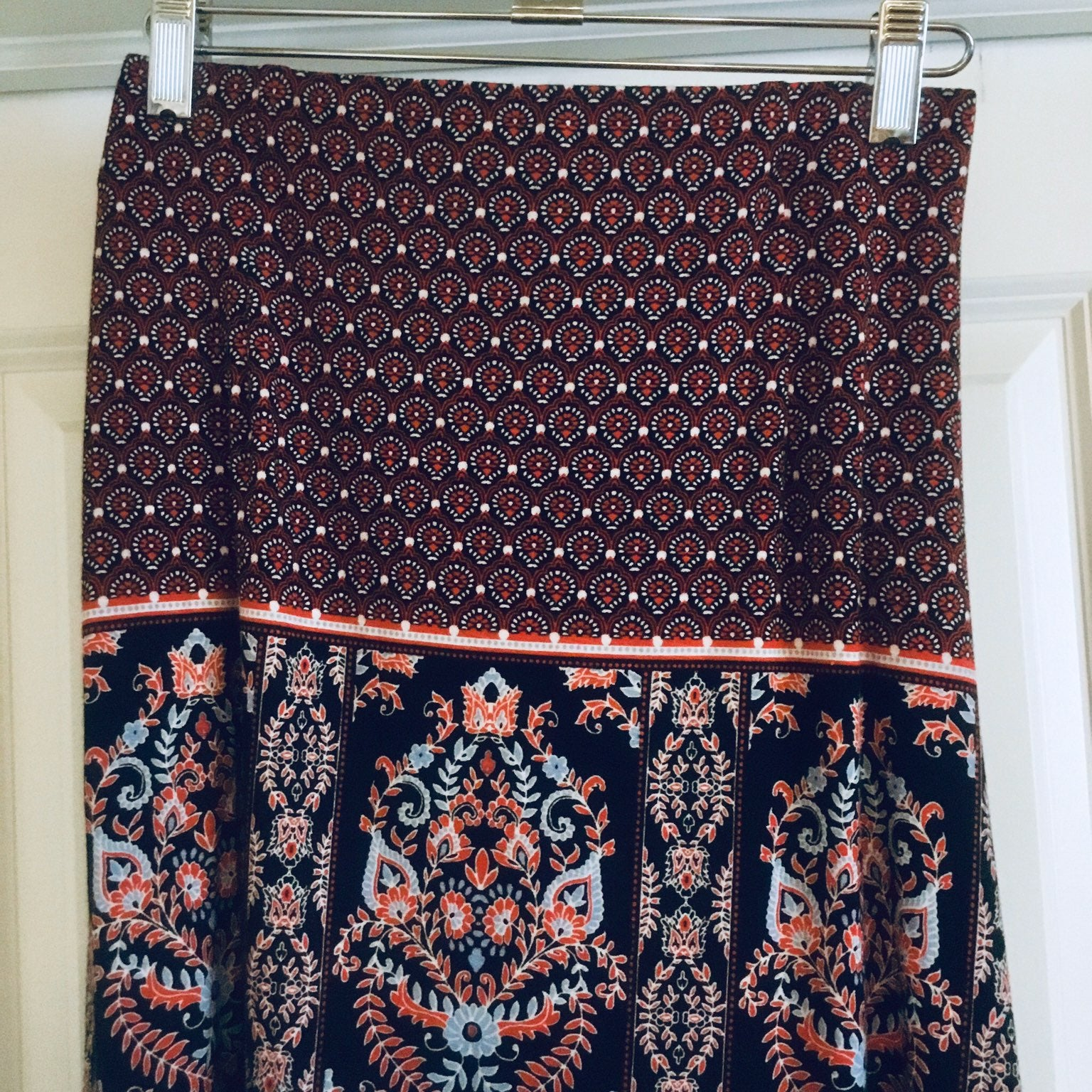 J. Jill Print Long Flowing Skirt Medium