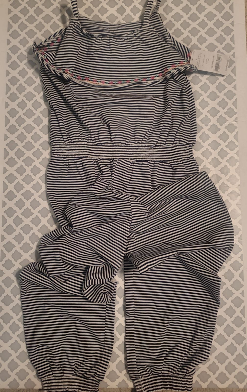NWT Girls Navy and White Striped Jumper