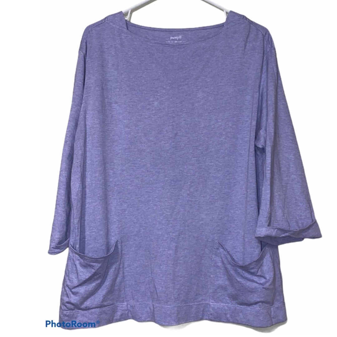 Pure Jill relaxed lavender small blouse