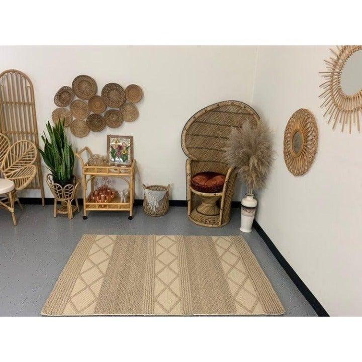 Natura beige 4x6 boho indoor rug NEW