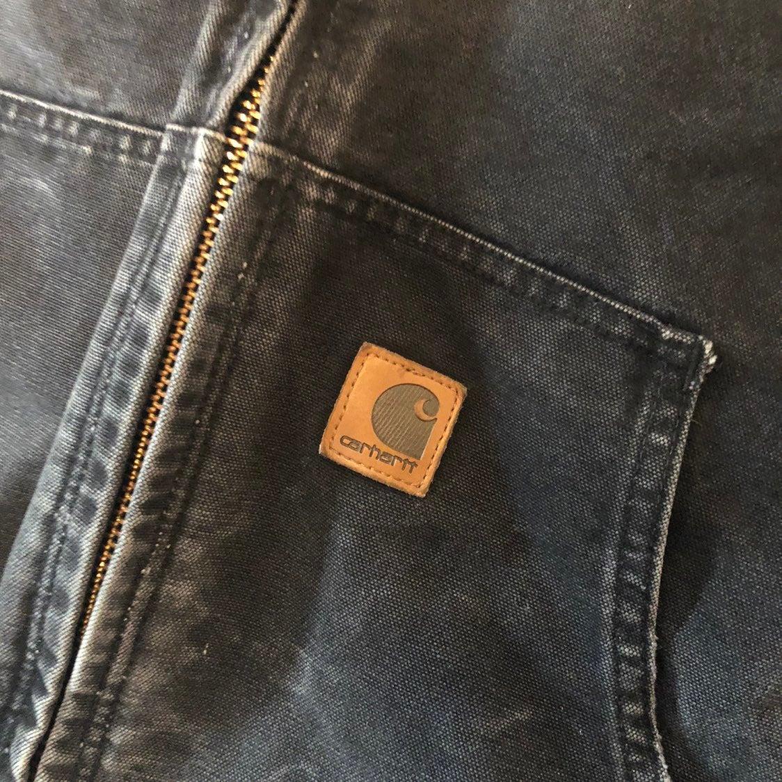 VTG Carhartt Denim Distressed Jacket